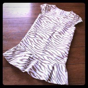 Gorgeous Girls fuzzy White 🐯 Dress Size 8.